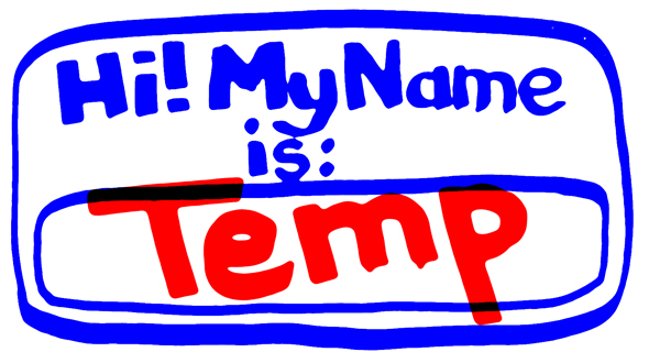 staffing agencies temp name tag